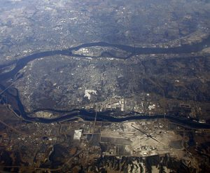 Aerial View Of Quad Cities Iowa